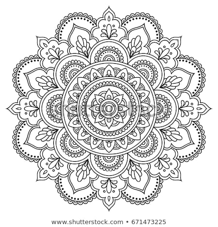 Stock photo: Hand-drawn Yoga and meditation stylized design