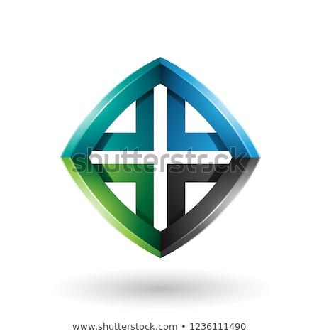 緑 · 黒 · ダイヤモンド · 手紙 · ベクトル - ストックフォト © cidepix