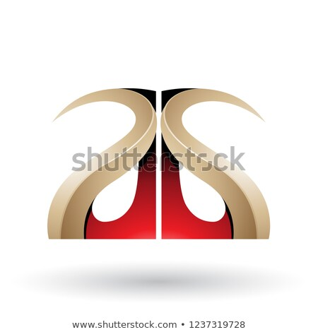 Piros bézs fényes g betű vektor illusztráció Stock fotó © cidepix