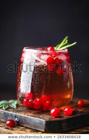 Kızılcık içmek karpuzu Noel cam tablo Stok fotoğraf © tycoon