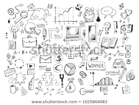 Doodle schets vector mail kunst Stockfoto © vector1st