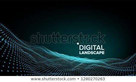 デジタル · 風景 · ベクトル · データ · 技術 · 波 - ストックフォト © pikepicture