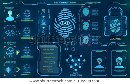 Identification and Recognition Human Fingerprint Stock photo © robuart
