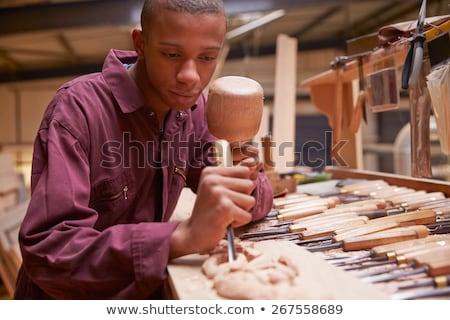Young african american carpenter stock photo © vladacanon