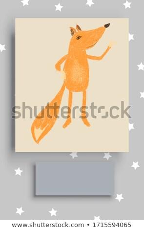 Karikatür sinsi kanguru örnek bebek hayvan Stok fotoğraf © cthoman