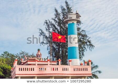 Faro símbolo isla Vietnam costa Foto stock © galitskaya