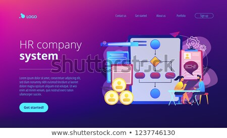 Employee assessment software concept landing page. Stock photo © RAStudio