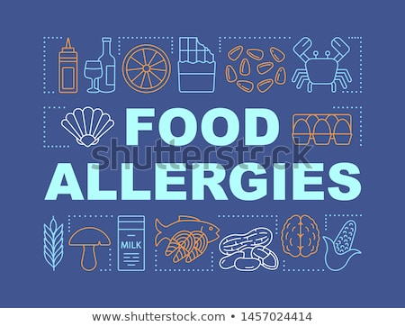 продовольствие аллергия человека продукции подобно рыбы Сток-фото © RAStudio