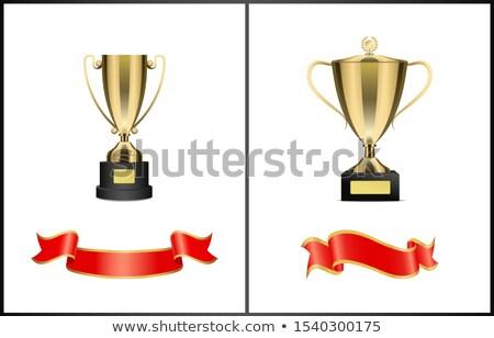 trofei · nastri · rosso · vuota · forma - foto d'archivio © robuart