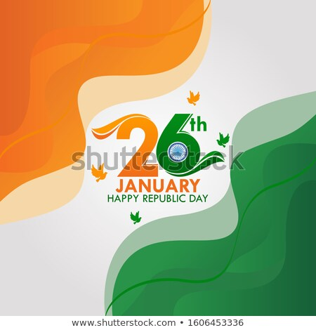 awesome indian flag design for happy republic day Stock photo © SArts