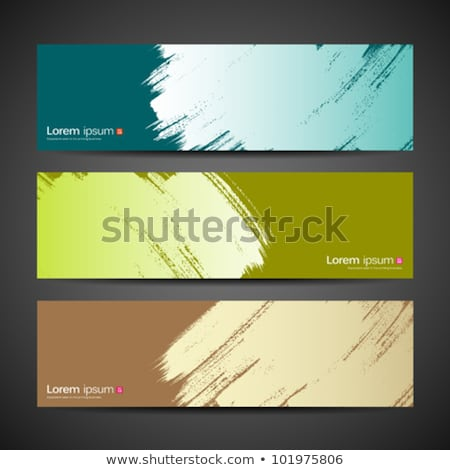 Vector Green Wave Brushes Set Abstract Collection Design Stock fotó © Sarunyu_foto