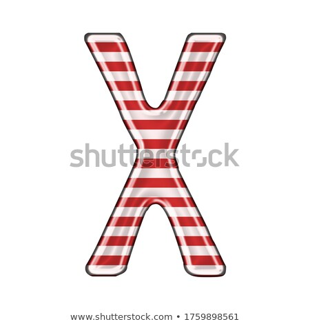 Metal red lines font Letter X 3D Stock photo © djmilic