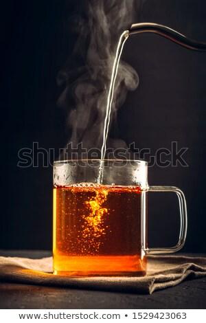 Naturale bevanda calda arance miele spezie Foto d'archivio © YuliyaGontar