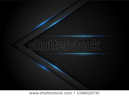 blue technology background with hexagonal shape and lines mesh Stock photo © SArts