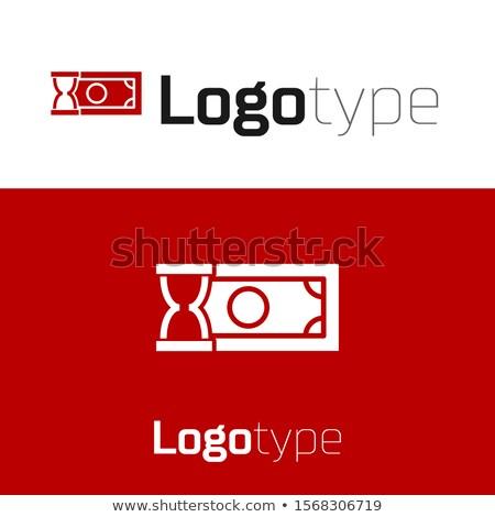 Stock fotó: óra · dollár · ikon · szimbólum · alkotóelem · izolált