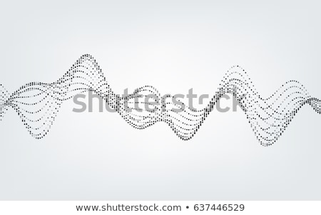 Abstract dotted wave lines. Vector illustration isolated on white background. Stock photo © kyryloff