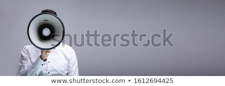 Man Doing Announcement On Megaphone Stock photo © AndreyPopov