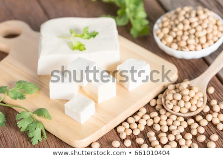 Tofu and Soybeans Stock photo © klsbear