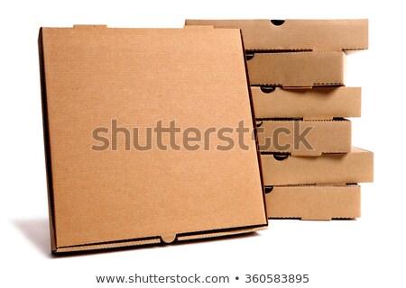 karton · pizza · kutusu · kapalı · yalıtılmış · kırmızı · konteyner - stok fotoğraf © studiostoks