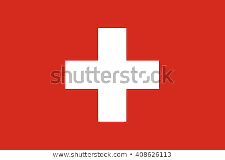 İsviçre bayrak beyaz büyük ayarlamak kalp Stok fotoğraf © butenkow