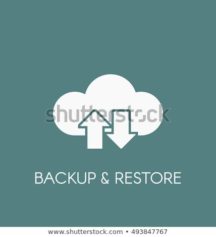 téléchargement · icône · nuage · icône · de · téléchargement · vecteur - photo stock © kyryloff