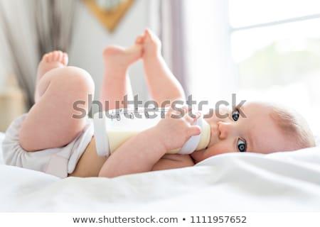 ребенка · напитки · молоко · ребенка · матери · портрет - Сток-фото © lopolo