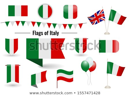 Banner with two square flags of Italy and united kingdom Stock photo © MikhailMishchenko