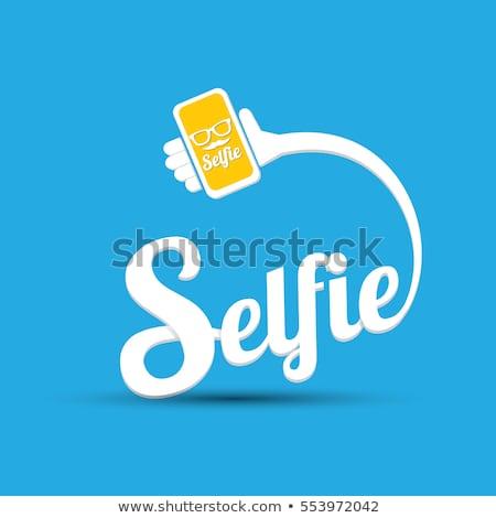 Selfie vector concept vector illustration. Stock photo © RAStudio