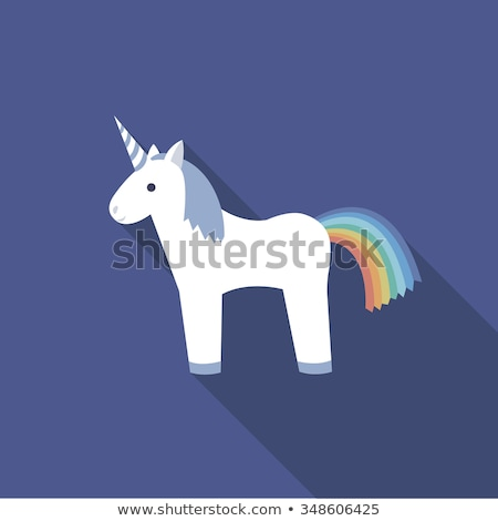 Pony Unicorn from Legend, Mysterious Fairy Horse Stock photo © robuart