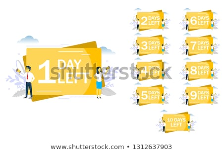 upcoming event marketing banner with number of days left Stock photo © SArts