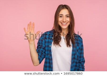 smile joy emotion hi five hand gesture Stock photo © rogistok