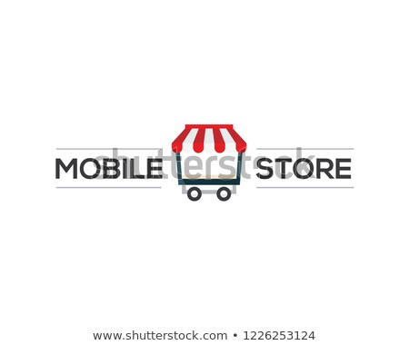 Delivery Services Mobile App with Cute Red Car  vector