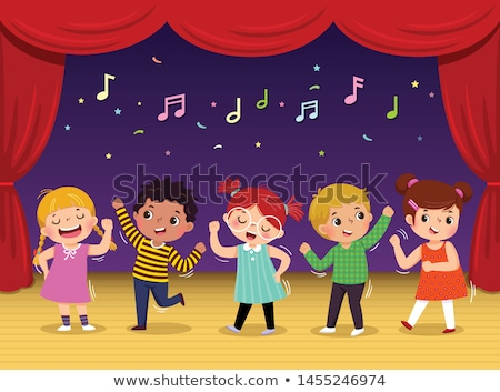 people dancing singing character artist vector stock photo © robuart