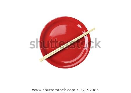 Piatto japanese bandiera vuota cucchiaio coltello Foto d'archivio © ElenaShow