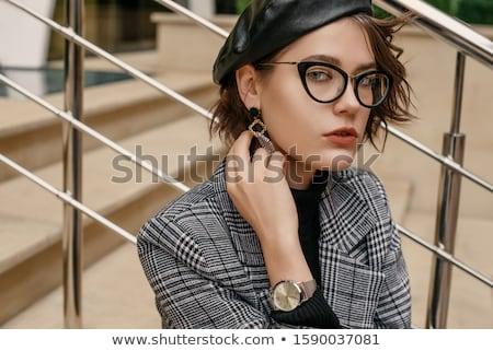 gümüş · gözlük · pembe · moda · Metal - stok fotoğraf © filipw