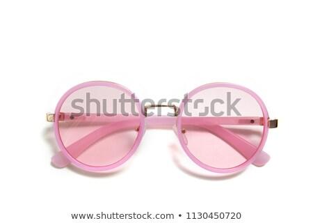 siyah · gözlük · pembe · uzun · gölge - stok fotoğraf © filipw