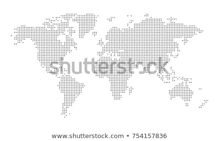 Világtérkép pontozott stílus izolált fehér földgömb Stock fotó © kyryloff