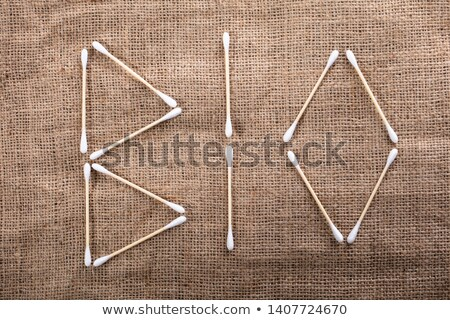 Bio Text Written With Wooden Cotton Buds Stock photo © AndreyPopov