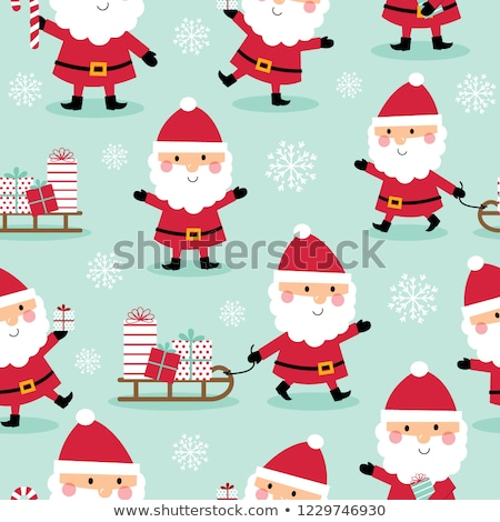Stockfoto: A Christmas Design With Elves