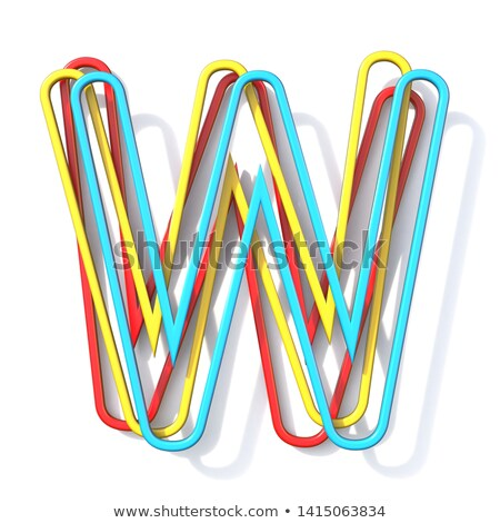 üç temel renk tel w harfi Stok fotoğraf © djmilic