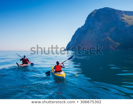 Navegação caiaque retrato idílico lago Foto stock © Kzenon