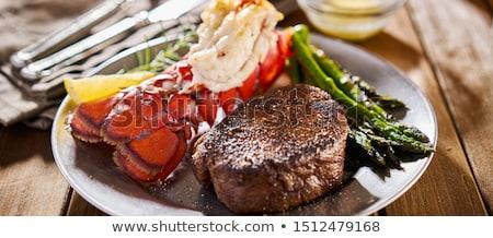 Szörf tőzeg étel tengeri hal steak étel Stock fotó © Lightsource
