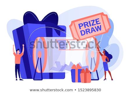 ödül çekmek şanslı küçücük insanlar çekiliş Stok fotoğraf © RAStudio