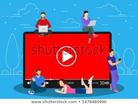 tutorial · computador · ilustração · botão · tela · negócio - foto stock © rastudio