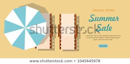 summer top view illustration of sun beds stock photo © sonya_illustrations