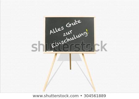 Blackboard · gekleurd · potloden · terug · naar · school · schoolbord · tekst - stockfoto © limbi007