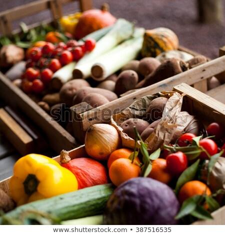doğal · ürün · biyo · malzemeler · kabak · biber - stok fotoğraf © robuart