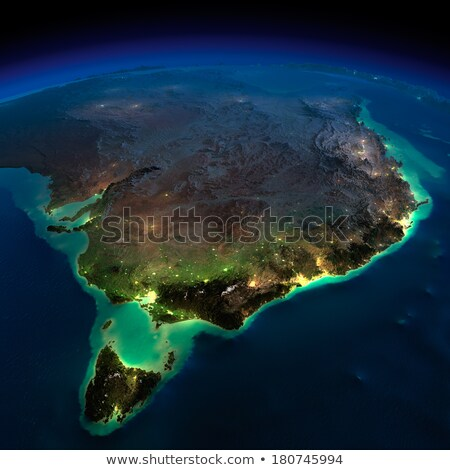 Detaillierte Erde Nacht Australien Tasmanien Planeten Erde Stock foto © Antartis