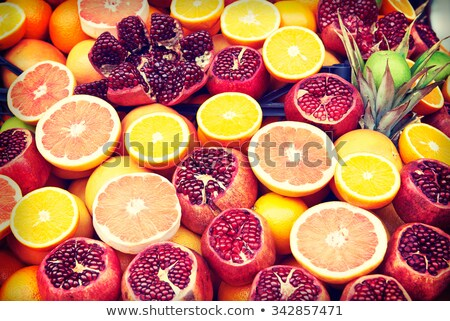 Set of fruits on the market in Istanbul, Turkey Stock photo © boggy