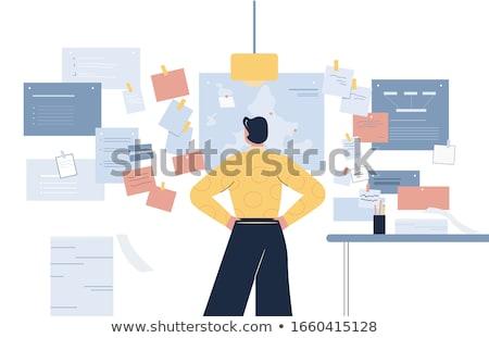 ビジネスマン 多くの 孤立した 白 オフィス 作業 ストックフォト © Elnur